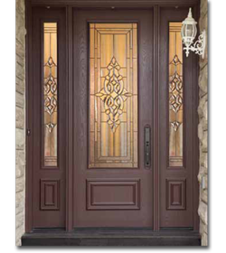 Front Entry Doors Fiberglass : Wood grain fiberglass doors woodbridge front entry